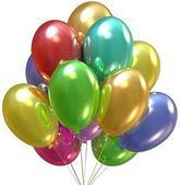 Balloons. Birthday and party decoration. — Stock Photo