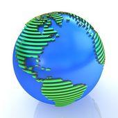 スライスの 3 d 地球儀. — ストック写真