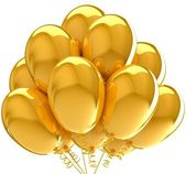 3d Balloons. Birthday and party decoration. Isolated on white. — Stock Photo