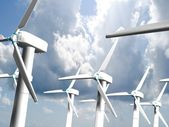 Wind mills, renewable energy. — Stock Photo