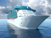 3D illustration of a Cruise Ship — Stock Photo