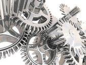 Ingranaggi in 3d. concetto di lavoro. — Foto Stock