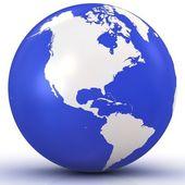 3d Globe isolated on white background — Stock Photo