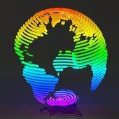 Monde abstrait coloré — Photo