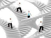 Va sulle scale carriera. — Foto Stock