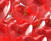 赤いハートの風船. — ストック写真