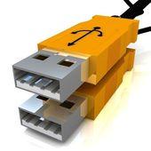 Usb-kabel isoleras på vit — Stockfoto