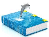 魔法の海の本イルカのジャンプ — ストック写真