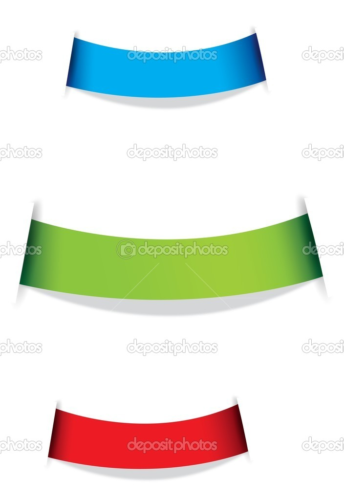 Set of ribbons in 3 different colours. — Stock Vector #10211565