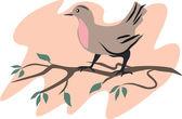 Illustration of bird — Stock Vector