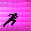 Silhouette of a man running — Stock Photo