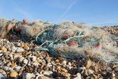 Washed Up Fisherman's Net — Zdjęcie stockowe