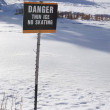 Danger Thin Ice Sign — Stock Photo #9994365