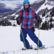 Young Man Skiing — Stock Photo