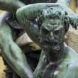 statua szczegółów, fontanna na placu de la signoria we Florencji firenze Toskania Włochy — Zdjęcie stockowe