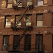 Stock Photo: Tenement buildings, New York