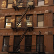 Tenement buildings, New York — Stock Photo