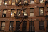 Tenement buildings, New York — Stock Photo