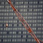 Contruction crane — Stock Photo