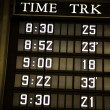 Stock Photo: Train schedule