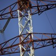 Energy transmission towers — Stockfoto