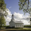 Stock Photo: Old white rural church
