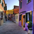Stock Photo: Street scene in Burano Italy