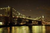 Brooklyn Bridge by twilight — Stock Photo
