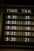 Train schedule — Stock Photo