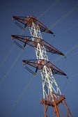 Energy transmission towers — Stock Photo