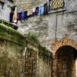Archway, hanging laundry, Venice — Stock Photo #10345663