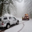 Auto accident in the snow — Stock Photo #9837523