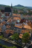 Cesky Krumlov Roofs and the Vltava River — Stock Photo