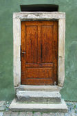 Highly Aged and Weathered Door Entrance, Yet Vivid — Stock Photo
