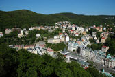 Overhead View of Karlovy Vary, Czech Republic — Stock Photo