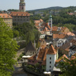 Cesky Krumlov Castle and the Vltava River — Stock Photo