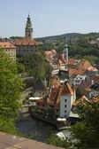 Cesky Krumlov Castle and the Vltava River — Stock Photo