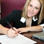 młodych businesswoman — Zdjęcie stockowe