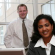 Businesswoman and Businessman - Foto Stock