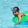 Boy in Pool — Stock Photo #10000734