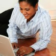Woman On Computer — Stock Photo