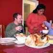 Foto Stock: Thanksgiving Family Dinner
