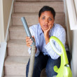 Woman Cleaning House — Stock Photo #10001944