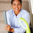 Stock Photo: Woman Cleaning House