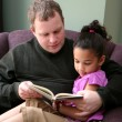 Father Reading To Daughter — Stock fotografie