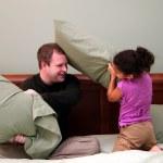 Pillow Fight — Stock Photo