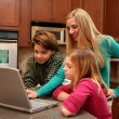 Family on Computer — Stock Photo