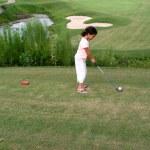 Child Golfing — Stock Photo