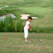 Child Golfing — Stock fotografie