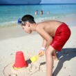 Boy Playing In Sand — Stock Photo